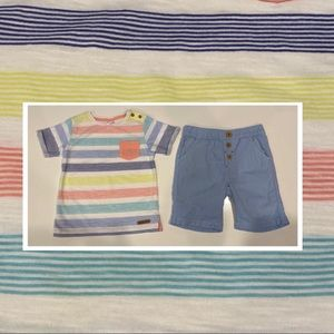 Sprout t-shirt and short set 100% Cotton